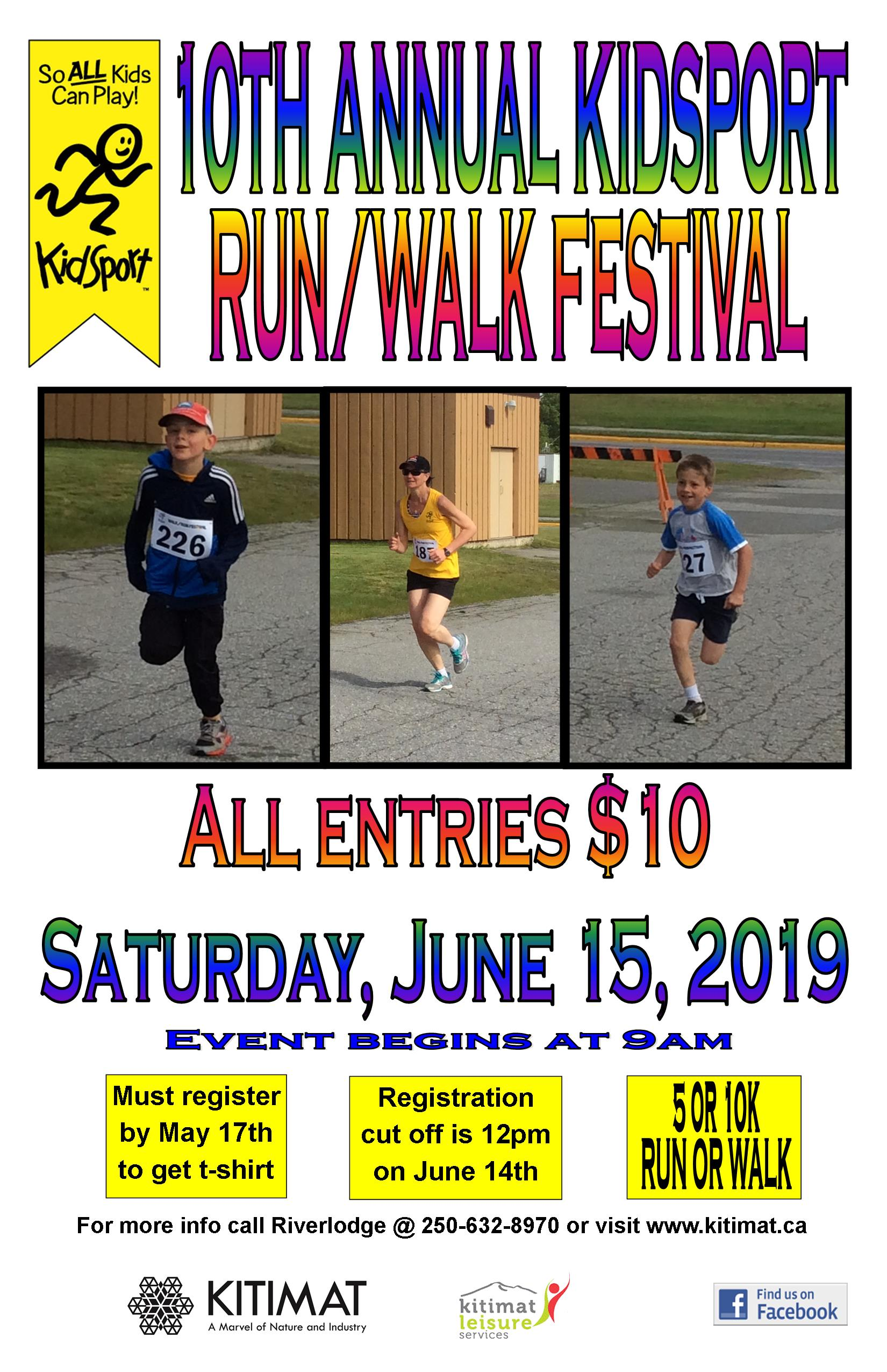 2019 Run and Walk Festival Poster