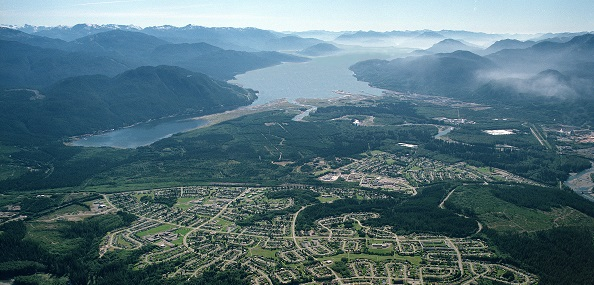 Aerial of Kitimat and Channel