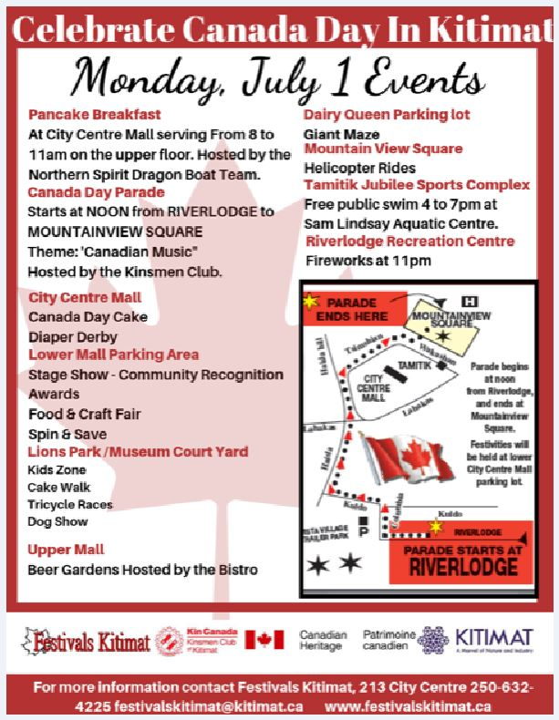 Canada Day Events at a Glance