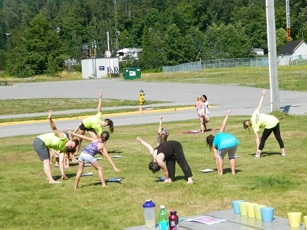 Recreation Fitness Class Outside