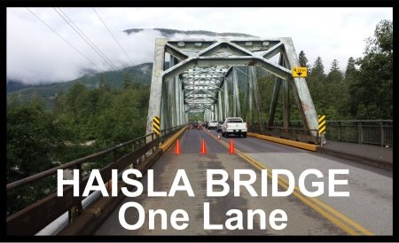 Haisla Bridge One Lane