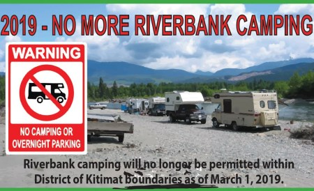 Campers camping on Kitimat River